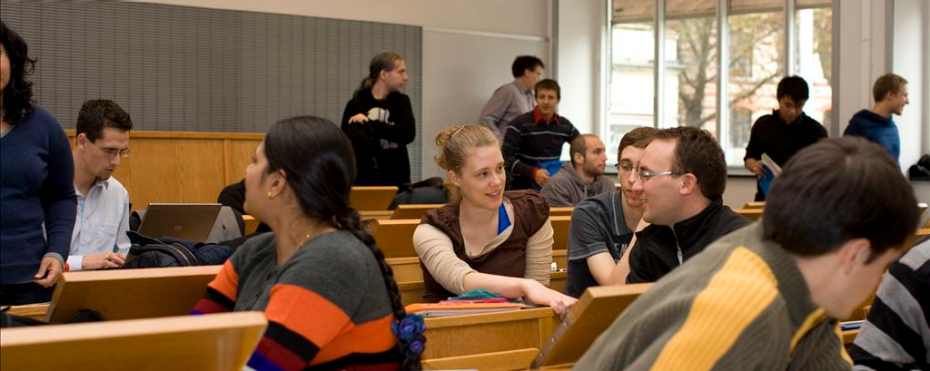 Students  and Prof. Peter Müller